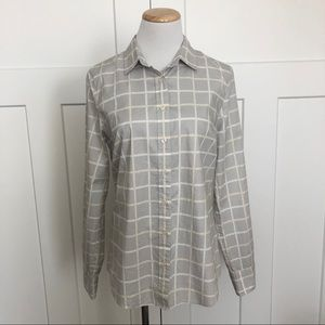 J Crew Window Pane Plaid Button Up Shirt